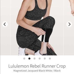 "NWOT lululemon Rebel Runner crops, size 4, 23"""